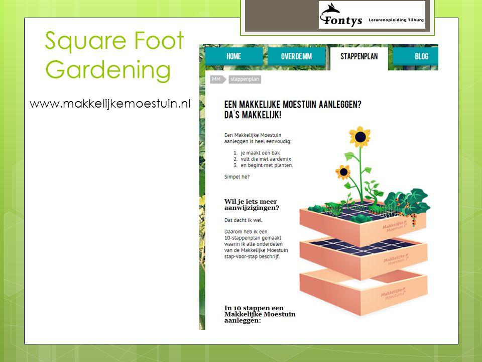 Square Foot Gardening www.makkelijkemoestuin.nl