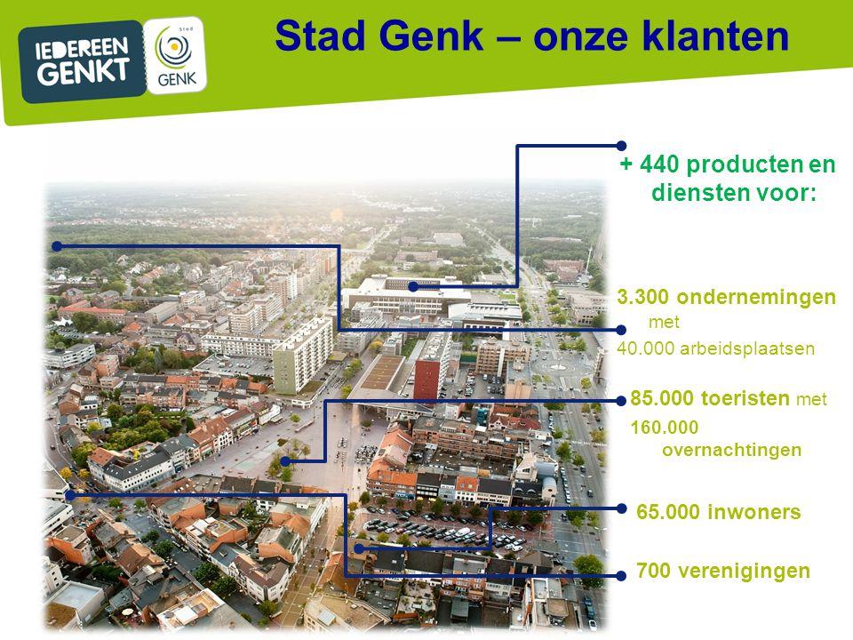 65.000 inwoners 700 verenigingen 3.300 ondernemingen met 40.000 arbeidsplaatsen + 440 producten en diensten voor: 85.000 toeristen met 160.000 overnac