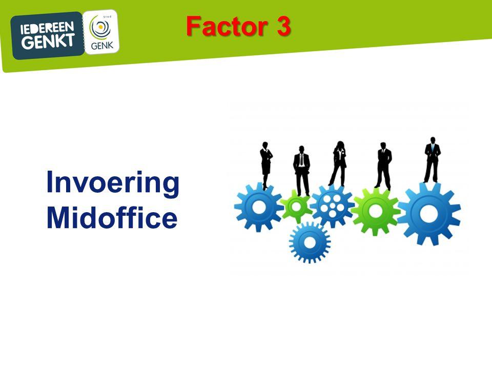 Invoering Midoffice Factor 3