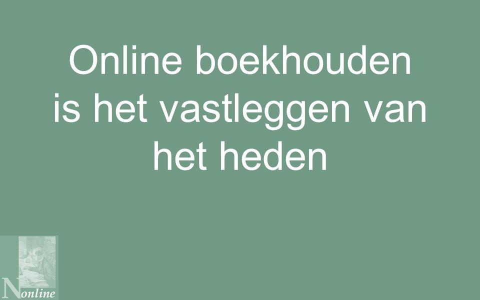 Online boekhouden is het vastleggen van het heden