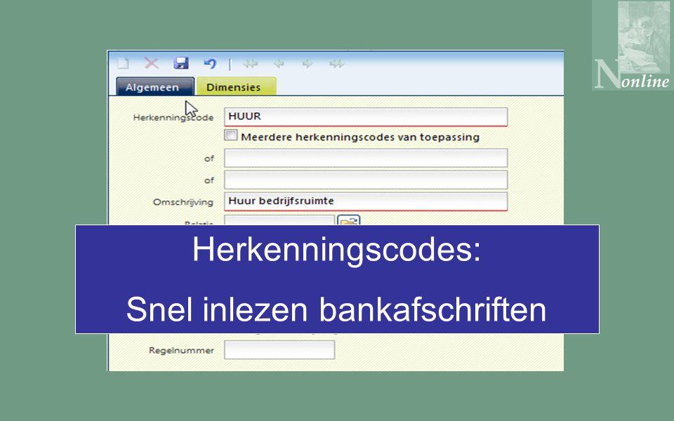 Herkenningscodes: Snel inlezen bankafschriften