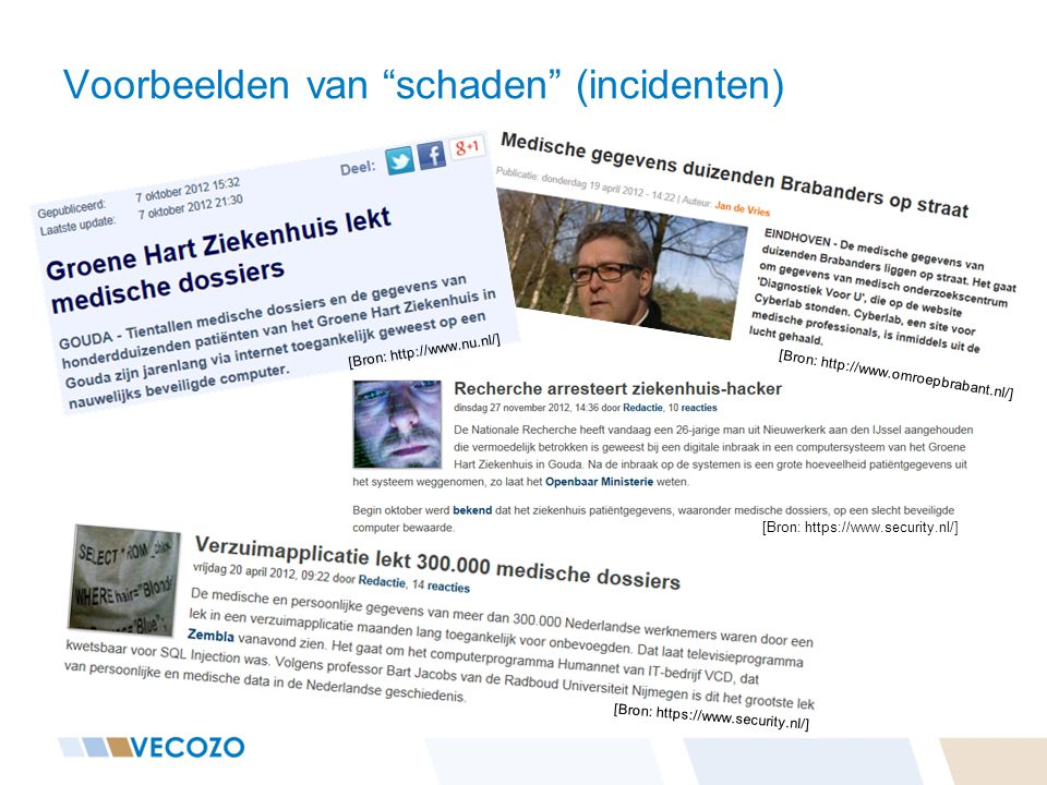 """[Bron: https://www.security.nl/] Voorbeelden van """"schaden"""" (incidenten) [Bron: http://www.nu.nl/] [Bron: http://www.omroepbrabant.nl/] [Bron: https://"""