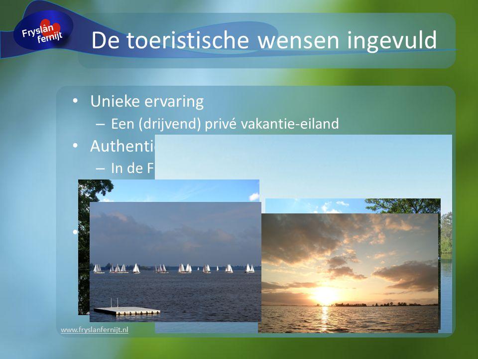 www.fryslanfernijt.nl Unieke ervaring – Een (drijvend) privé vakantie-eiland Authentiek – In de Friese natuur, met de Friese natuur – Ruimte en vrijheid op het water – Fraaie dorpen en steden op vaarafstand En....