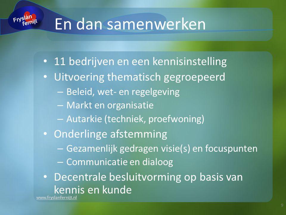 www.fryslanfernijt.nl Wordt het reisdoel gehaald.