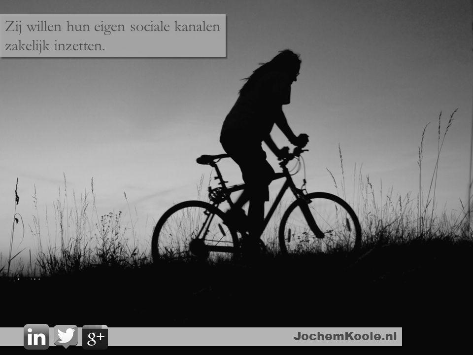 JochemKoole.nl Zij willen hun eigen sociale kanalen zakelijk inzetten.