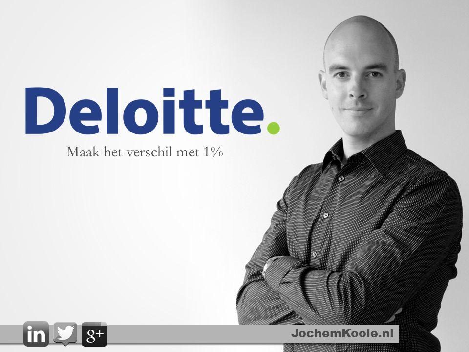 JochemKoole.nl Maak het verschil met 1%