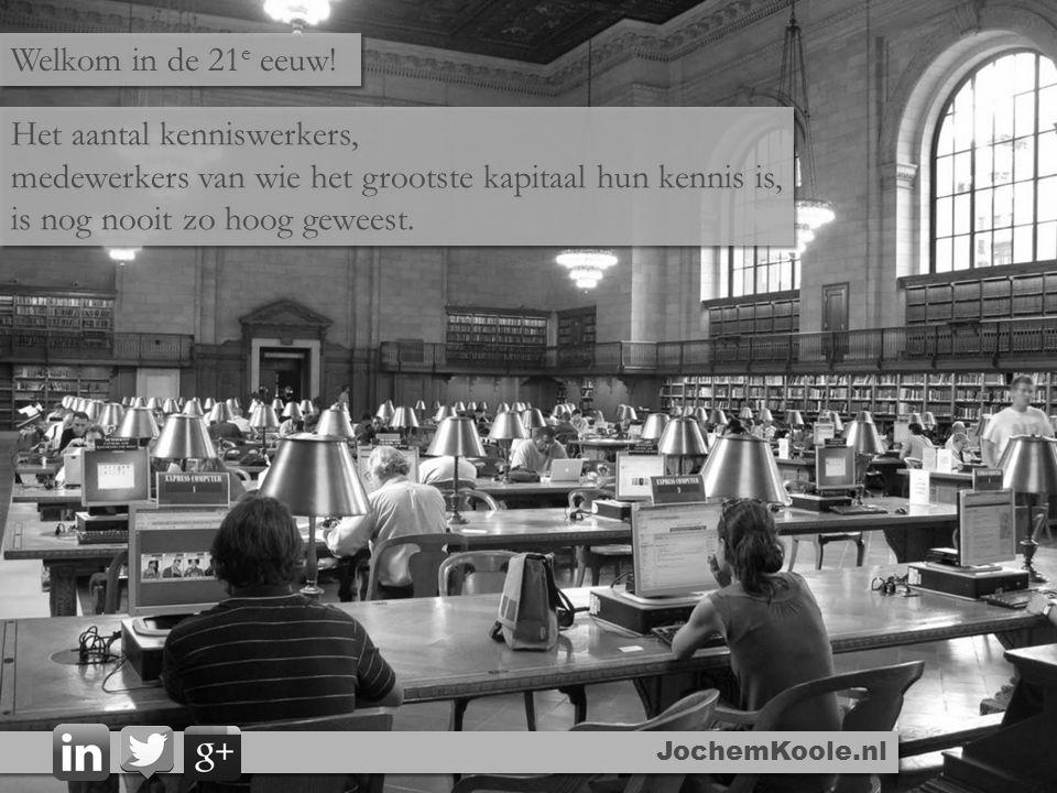 JochemKoole.nl Het aantal kenniswerkers, medewerkers van wie het grootste kapitaal hun kennis is, is nog nooit zo hoog geweest. Het aantal kenniswerke