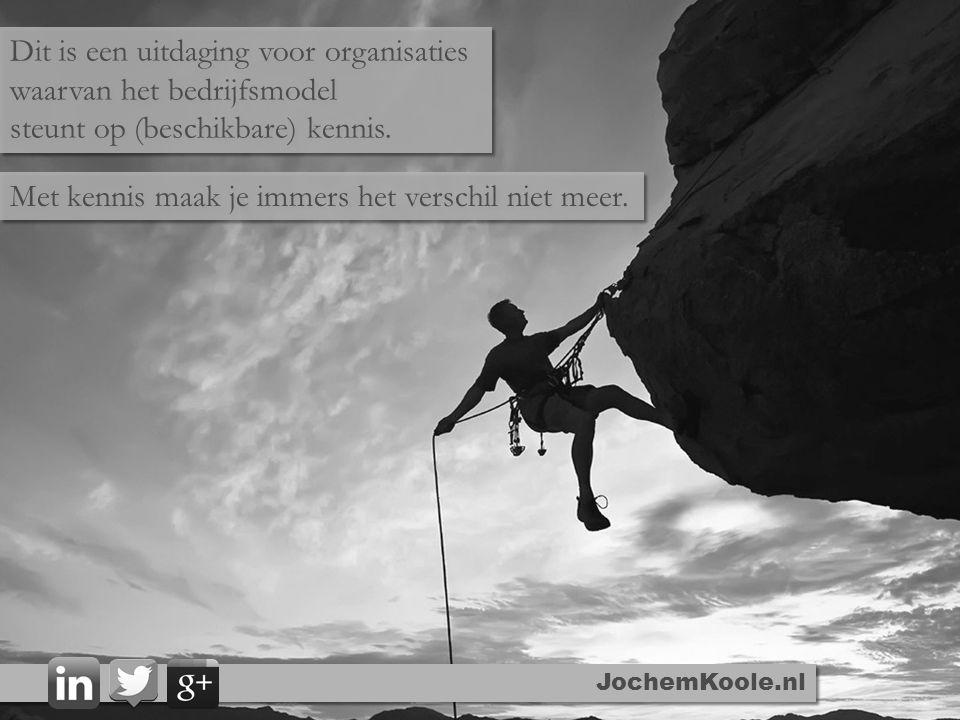 Dit is een uitdaging voor organisaties waarvan het bedrijfsmodel steunt op (beschikbare) kennis. Dit is een uitdaging voor organisaties waarvan het be