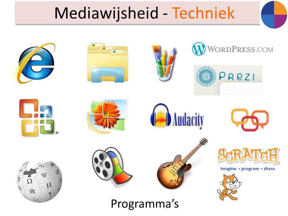 Mediawijsheid - Techniek Programma's