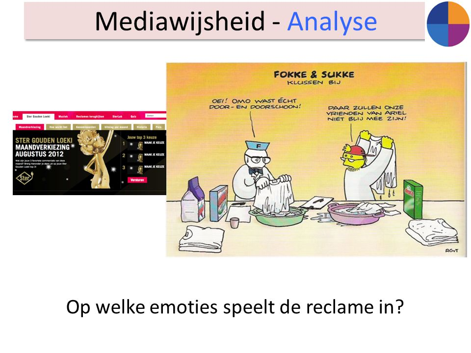 Op welke emoties speelt de reclame in? Mediawijsheid - Analyse
