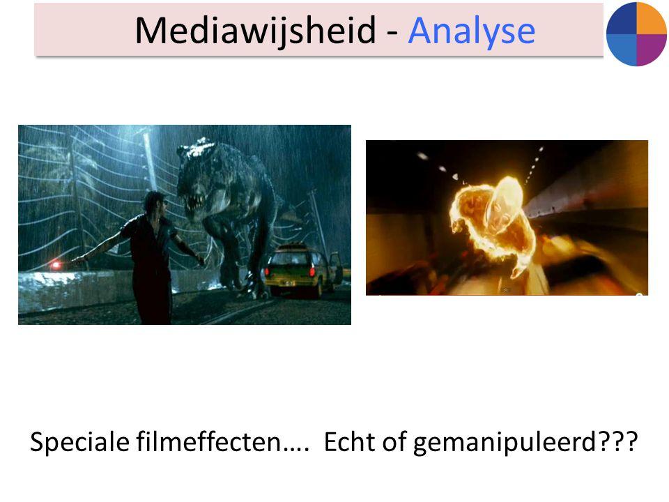 Speciale filmeffecten…. Echt of gemanipuleerd??? Mediawijsheid - Analyse