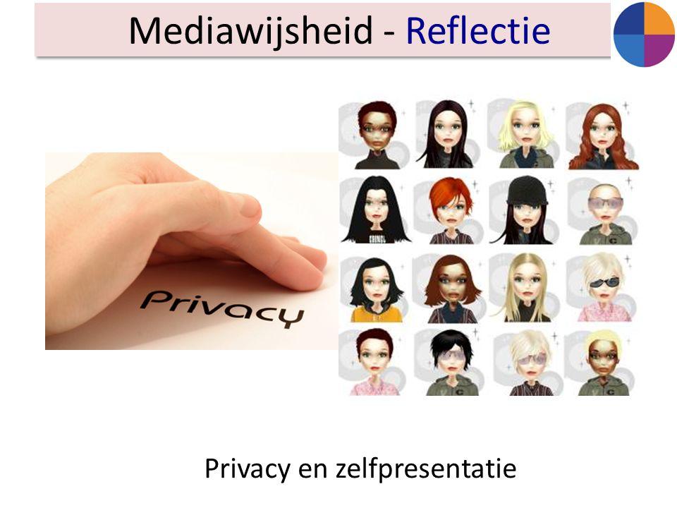 Mediawijsheid - Reflectie Privacy en zelfpresentatie
