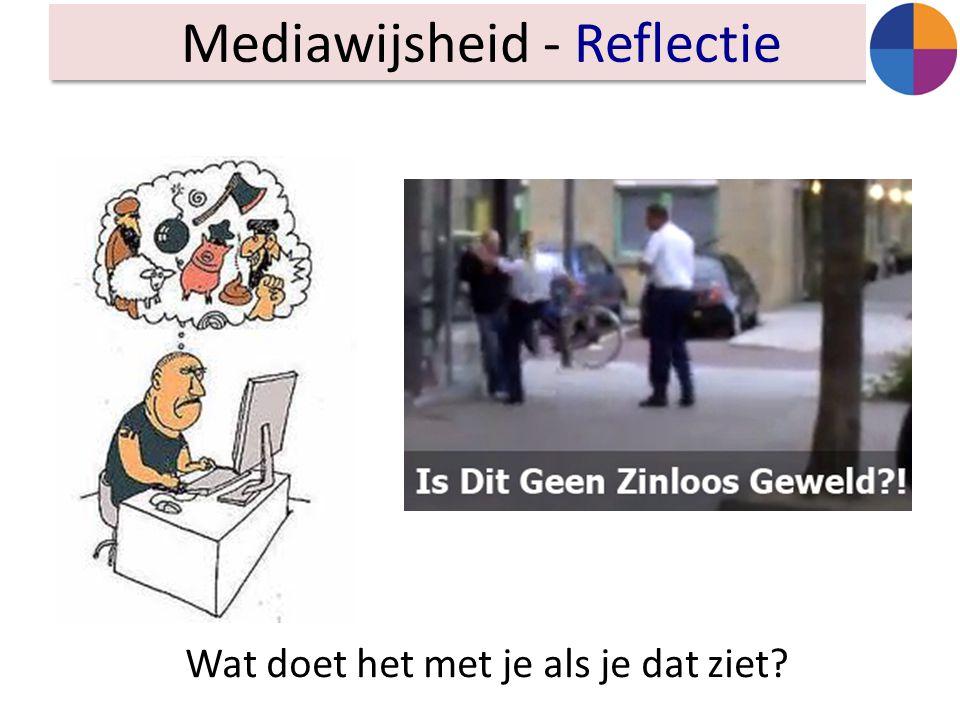 Mediawijsheid - Reflectie Wat doet het met je als je dat ziet?