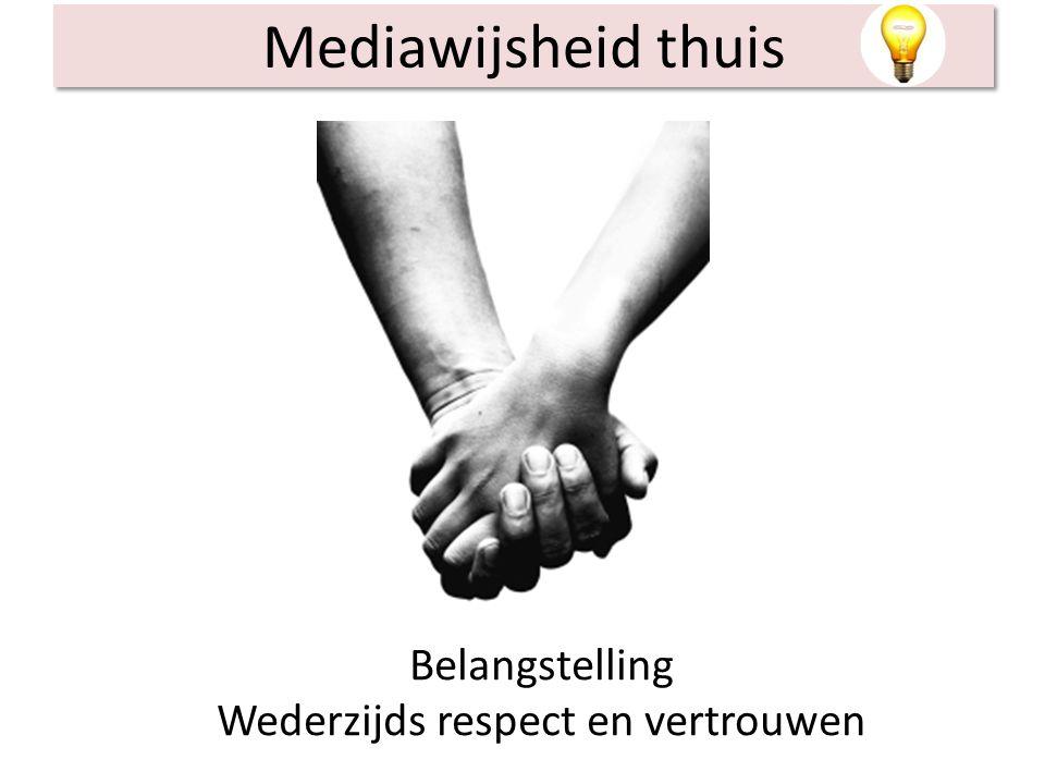 Mediawijsheid thuis Belangstelling Wederzijds respect en vertrouwen