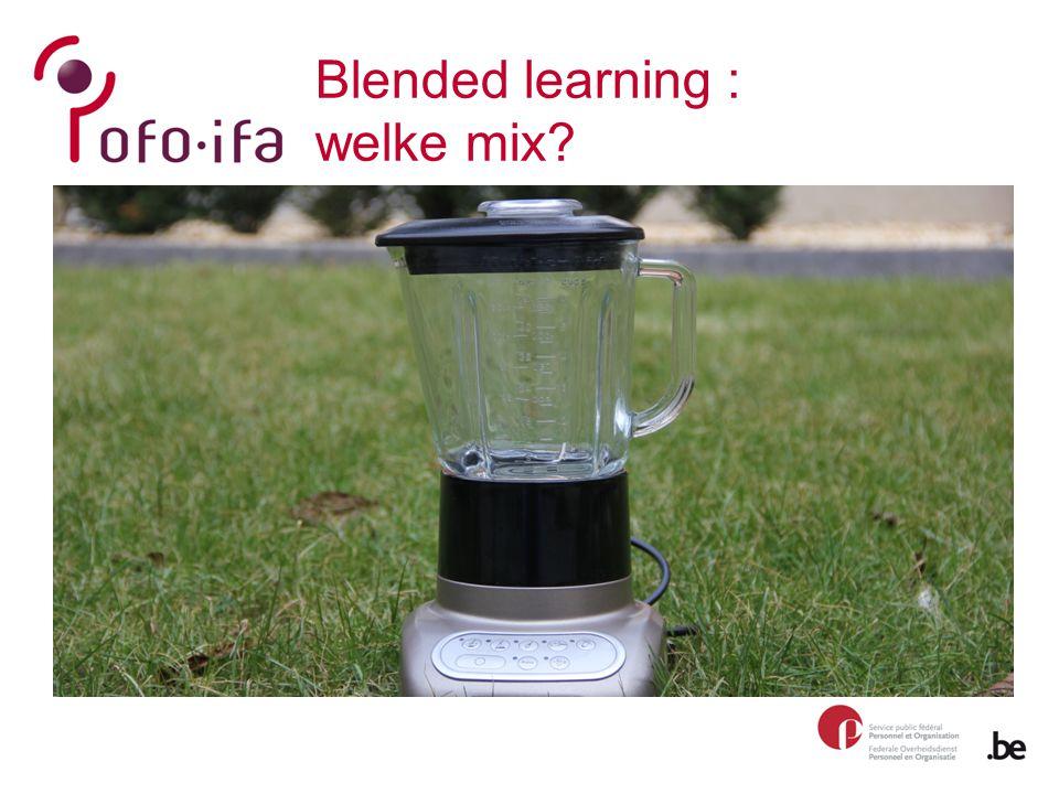 Blended learning : welke mix?