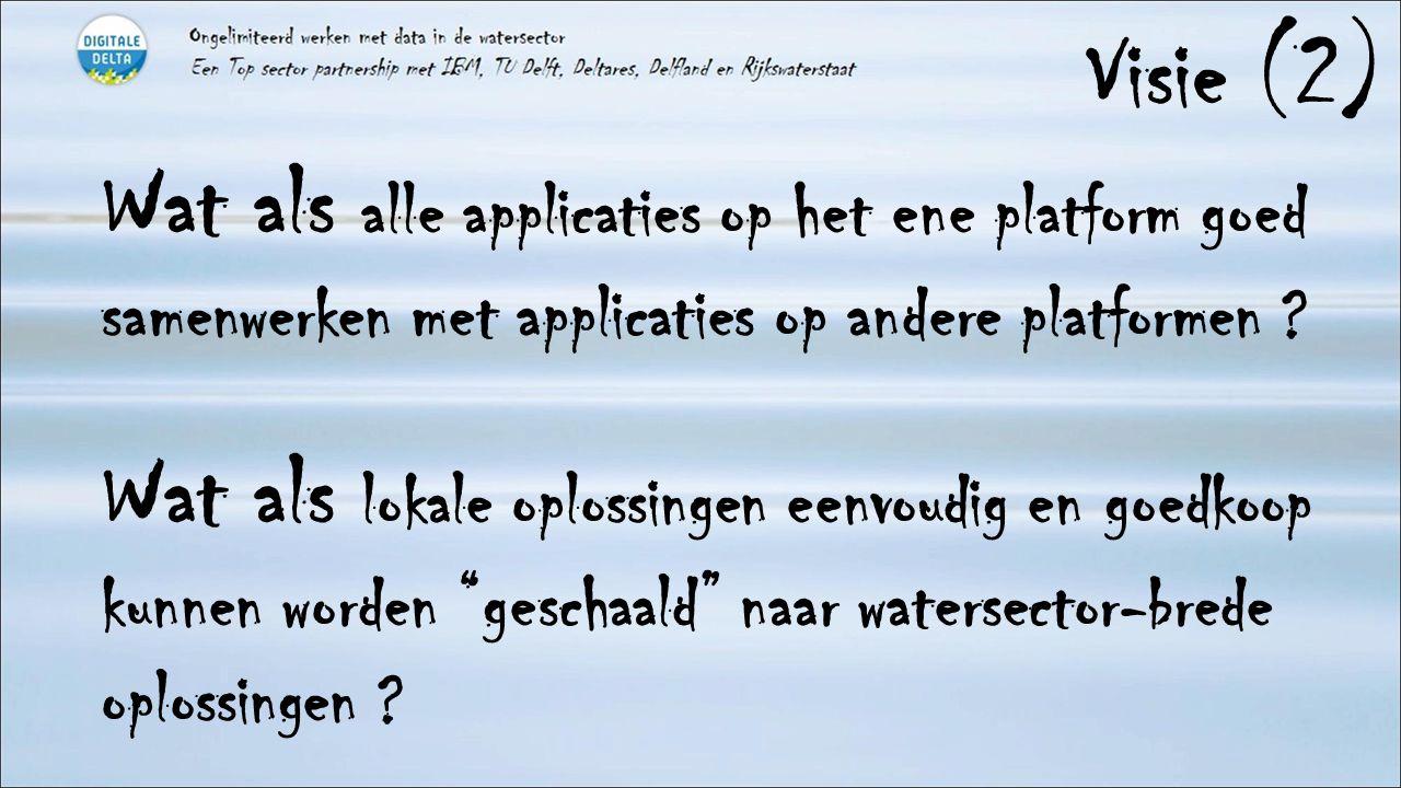 Visie (2) Wat als alle applicaties op het ene platform goed samenwerken met applicaties op andere platformen ? Wat als lokale oplossingen eenvoudig en