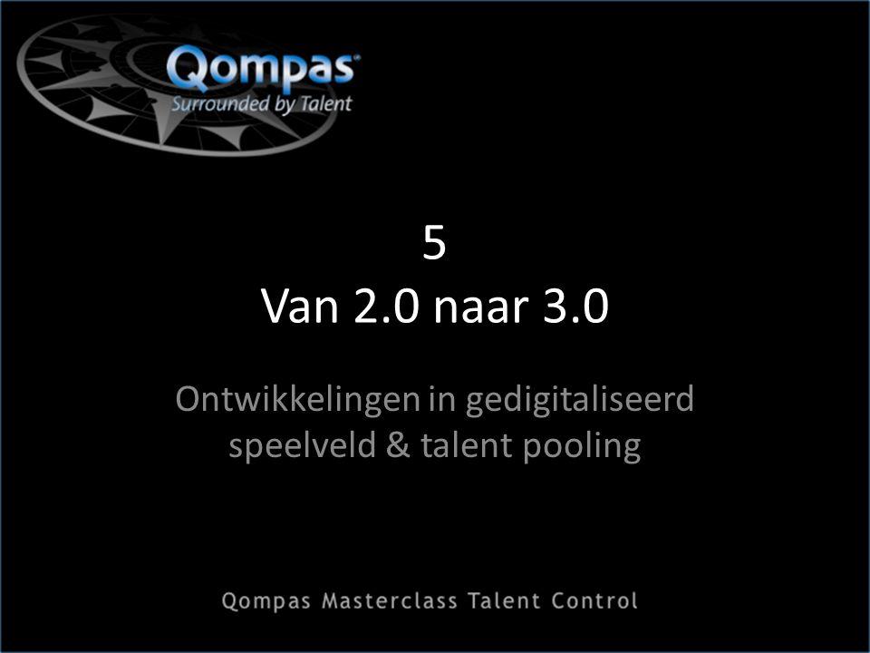 5 Van 2.0 naar 3.0 Ontwikkelingen in gedigitaliseerd speelveld & talent pooling