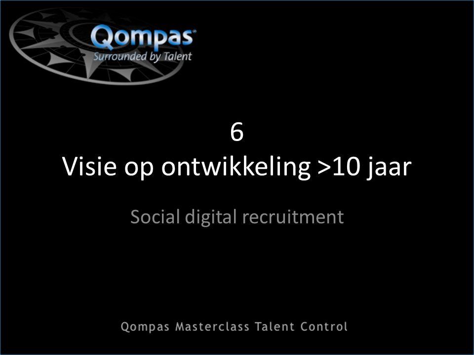 6 Visie op ontwikkeling >10 jaar Social digital recruitment