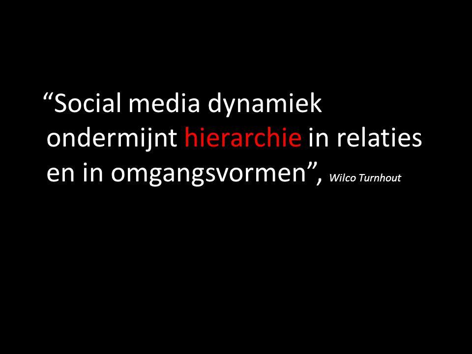 """Social media dynamiek ondermijnt hierarchie in relaties en in omgangsvormen"", Wilco Turnhout"