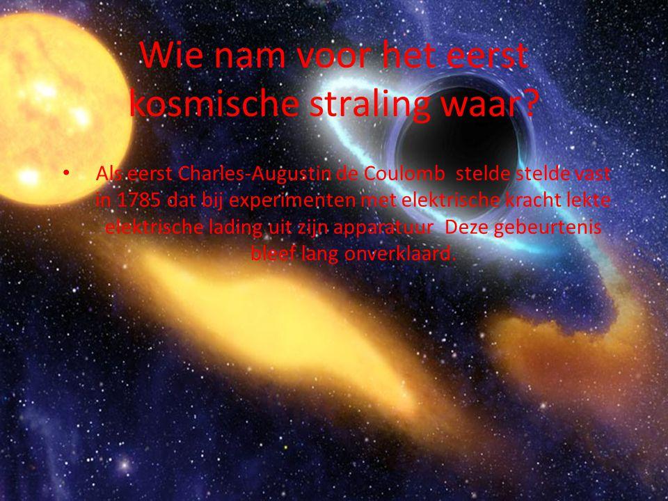 Wie nam voor het eerst kosmische straling waar.