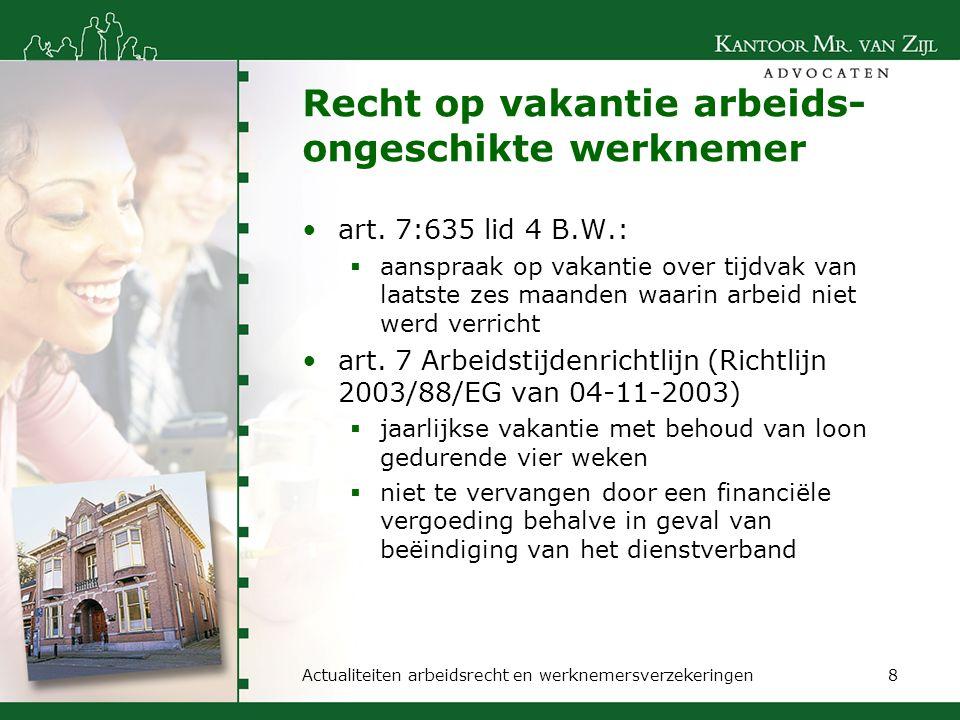 Jurisprudentie vanaf 2009 nieuwe lijn in jurisprudentie: passend werk wordt nieuwe bedongen arbeid waardoor nieuw recht op loon bij ziekte mogelijk is  hof 's-Hertogenbosch 06-01-2009, ljn: BH0657  hof Amsterdam 21-07-2009, ljn: BJ4534  ktr.