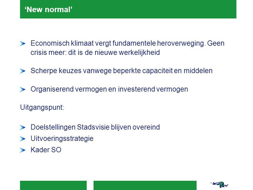 'New normal' Economisch klimaat vergt fundamentele heroverweging.