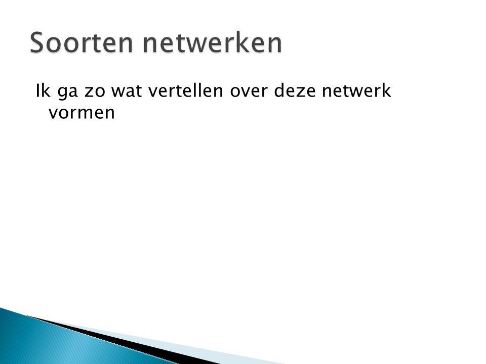 Ik ga zo wat vertellen over deze netwerk vormen