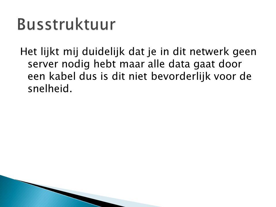 Het lijkt mij duidelijk dat je in dit netwerk geen server nodig hebt maar alle data gaat door een kabel dus is dit niet bevorderlijk voor de snelheid.