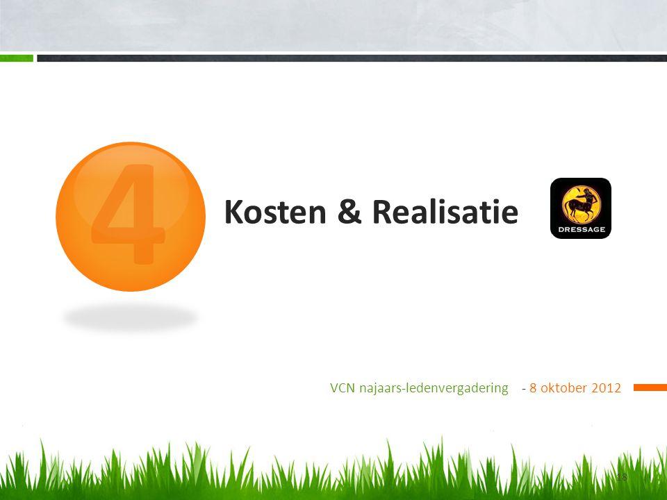 Kosten & Realisatie VCN najaars-ledenvergadering - 8 oktober 2012 4 18