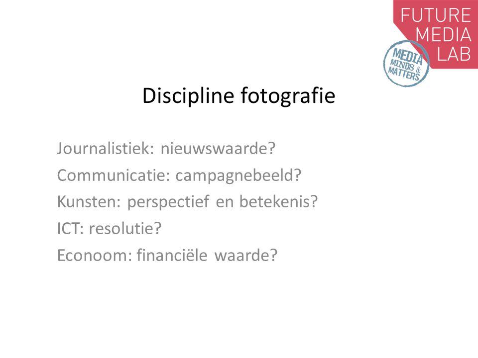 Discipline fotografie Journalistiek: nieuwswaarde.