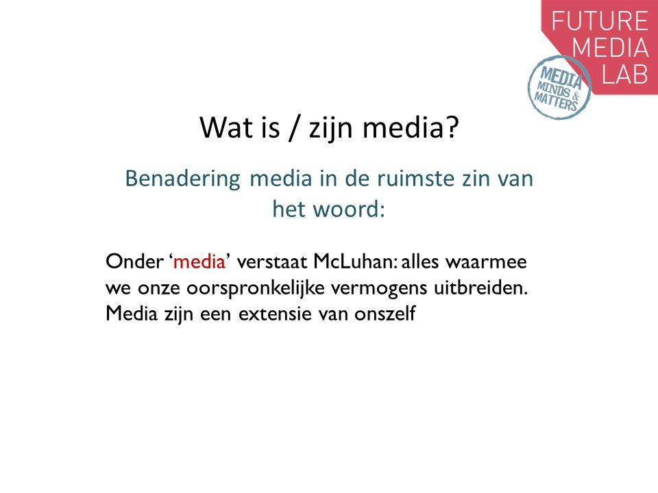 Wat is / zijn media.