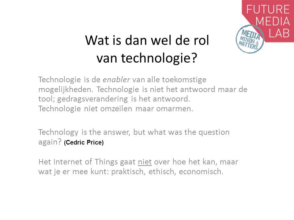 Wat is dan wel de rol van technologie.