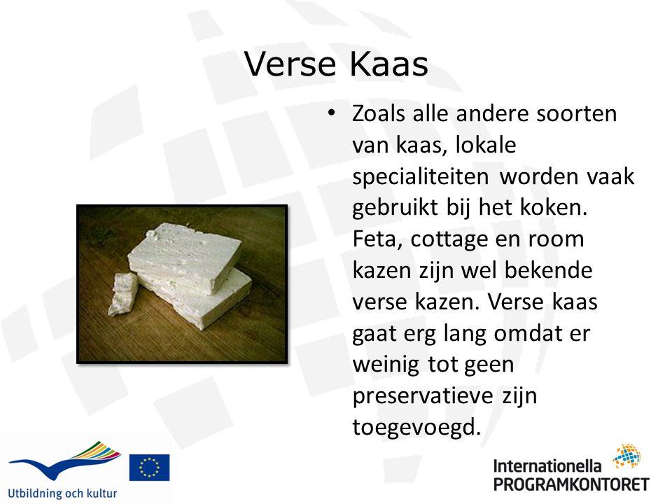 Verse Kaas Zoals alle andere soorten van kaas, lokale specialiteiten worden vaak gebruikt bij het koken. Feta, cottage en room kazen zijn wel bekende