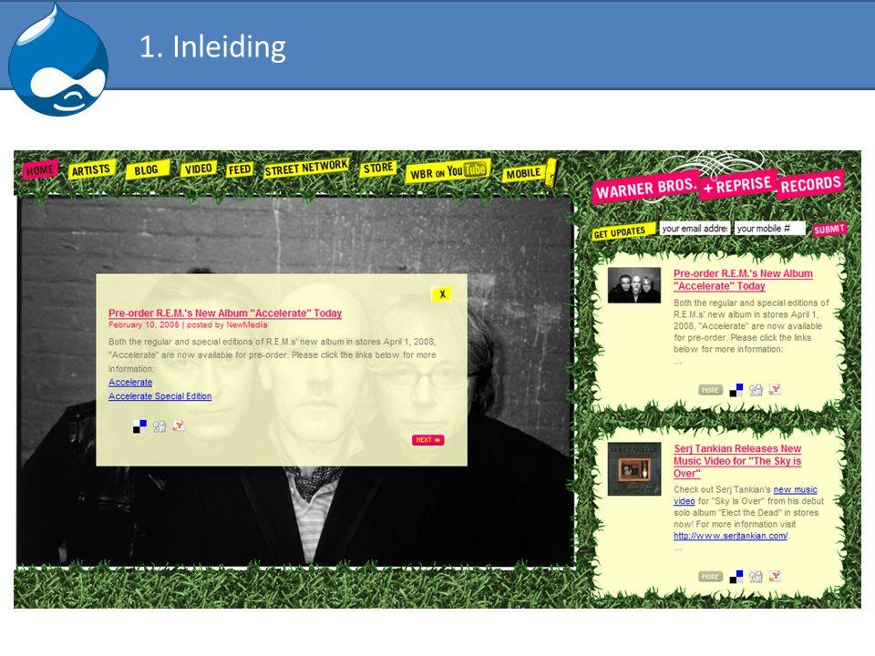 BlockBesturen van de boxes die rond de inhoud getoond worden.