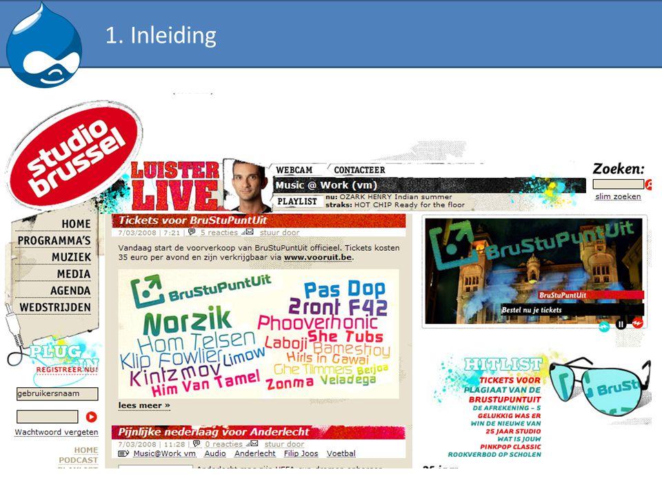Verschillende lay-out voor een pagina Uitgangspunt: Enkel de front page moet de introtekst en foto tonen Template file kan op basis van de system URL gekozen worden - page-node-edit.tpl.php - page-node-1.tpl.php - page-node.tpl.php - page.tpl.php Vb.