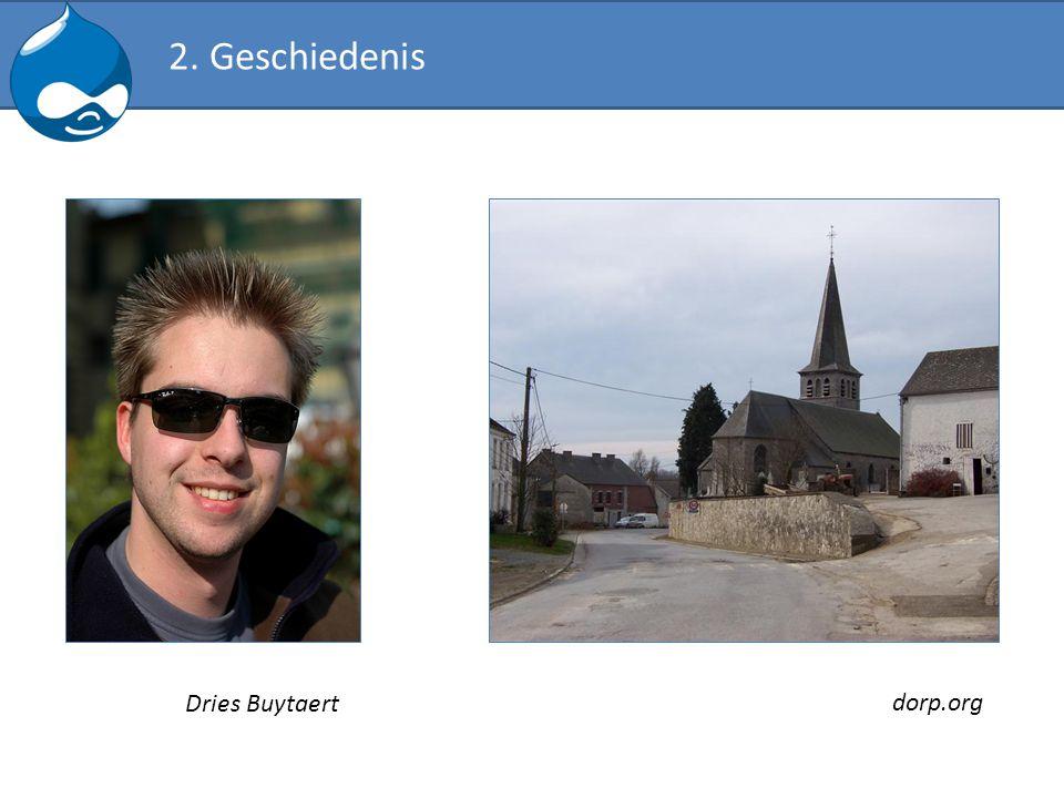 2. Geschiedenis dorp.org Dries Buytaert