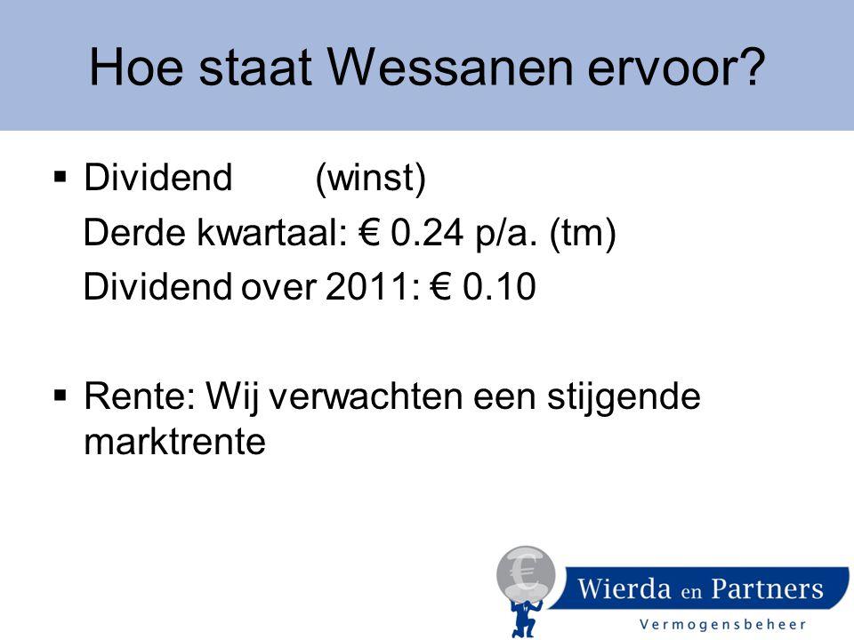 Hoe staat Wessanen ervoor.  Dividend (winst) Derde kwartaal: € 0.24 p/a.