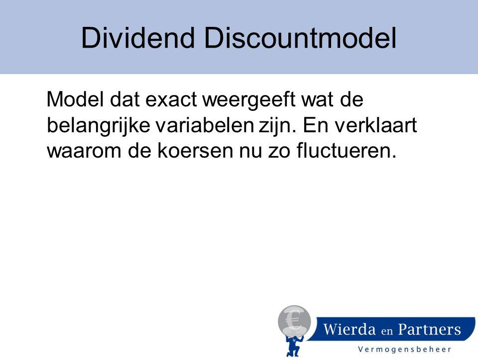  Dividend D  Rente op staatsobligatiesS  Risico-opslagO  Verwachte winstgroei G De Variabelen