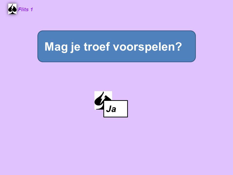 Flits 1 Ja Mag je troef voorspelen?