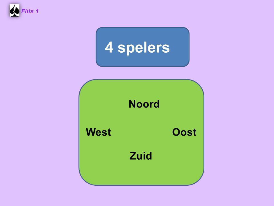 Flits 1 Een slag: verzameling van vier gespeelde kaarten: 1 van elke speler Noord West Oost Zuid ♥ 2♥ 2 ♥ 3 ♥ 3 ♥ H♥ H ♥ A♥ A Oost wint de slag