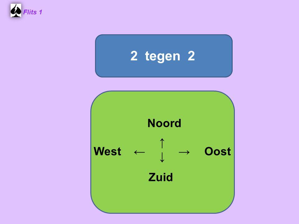 Flits 1 Samenwerken Dus nu niet ♠ A spelen ! Noord WestOost Zuid ♠ A72 ♠ B♠ B ♠ H♠ H ♠ 4♠ 4