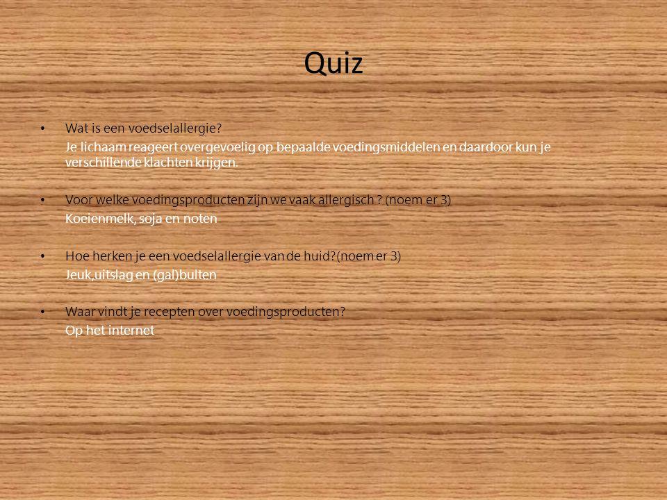 Quiz Wat is een voedselallergie.