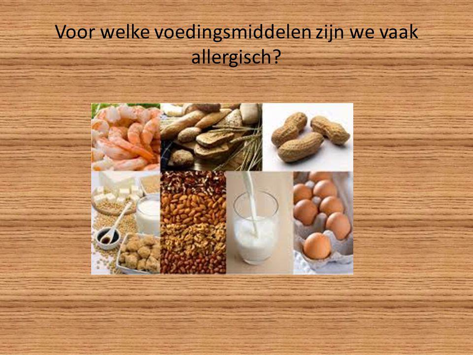 Voor welke voedingsmiddelen zijn we vaak allergisch?