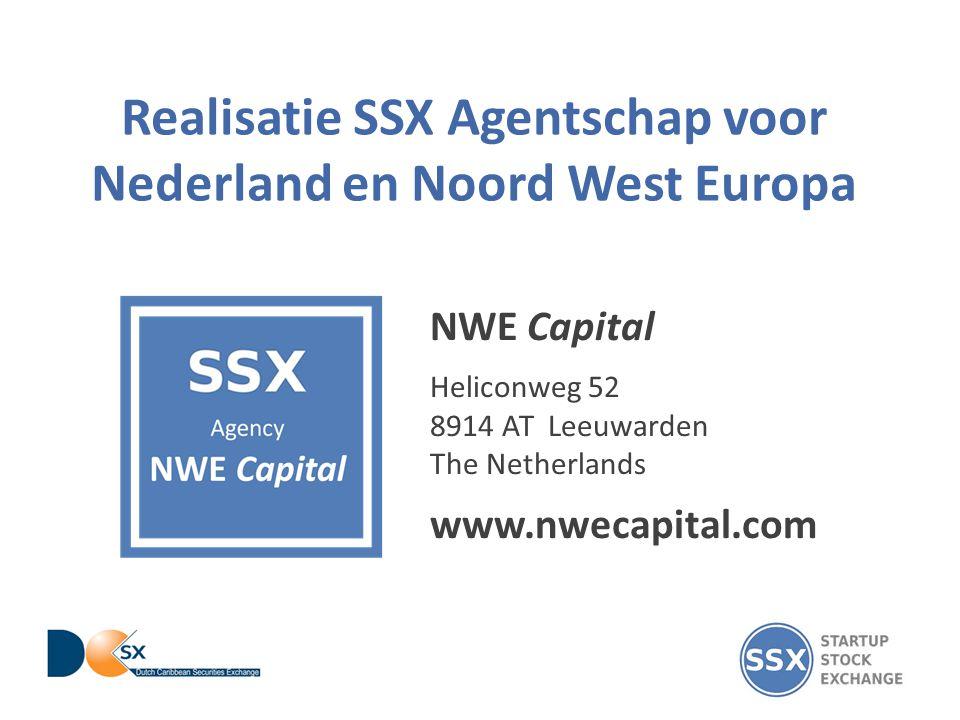 Realisatie SSX Agentschap voor Nederland en Noord West Europa NWE Capital Heliconweg 52 8914 AT Leeuwarden The Netherlands www.nwecapital.com