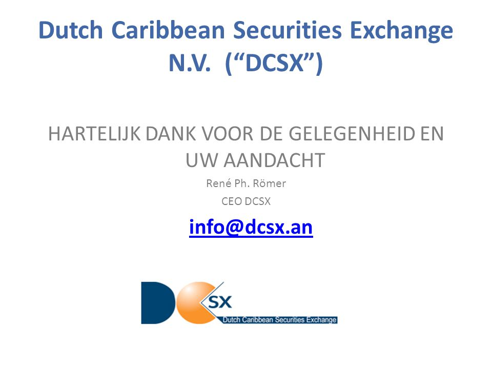 Dutch Caribbean Securities Exchange N.V.