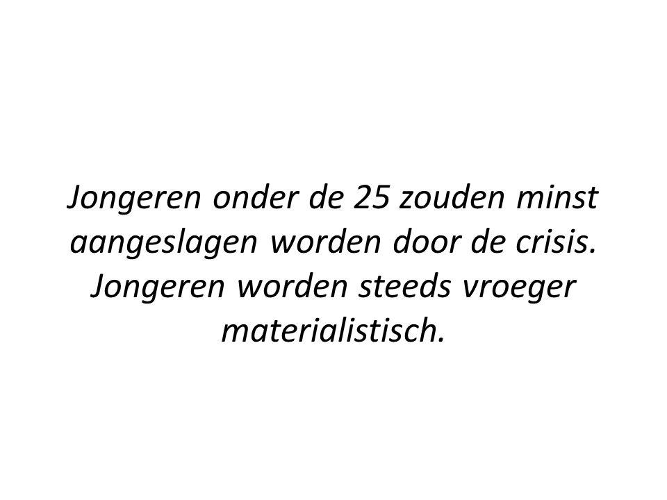 Jongeren onder de 25 zouden minst aangeslagen worden door de crisis.