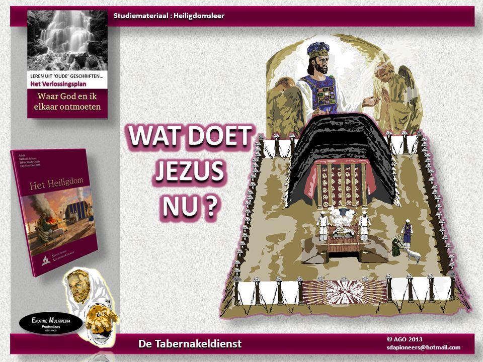 De BRANDOFFER ALTAAR Exodus 25-30 De Nieuwe Bijbelvertaling Studiemateriaal : Heiligdomsleer Het Heiligdom De Tabernakeldienst © AGO 2013 sdapioneers@hotmail.com