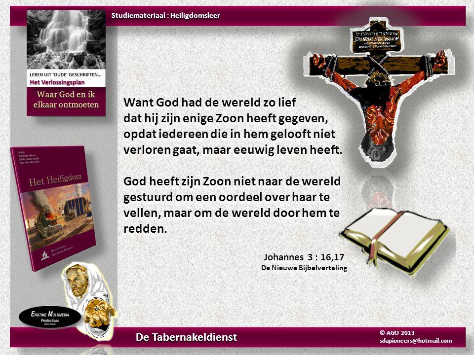 Het KOPEREN WASVAT Exodus 25-30 De Nieuwe Bijbelvertaling Studiemateriaal : Heiligdomsleer Het Heiligdom De Tabernakeldienst © AGO 2013 sdapioneers@hotmail.com