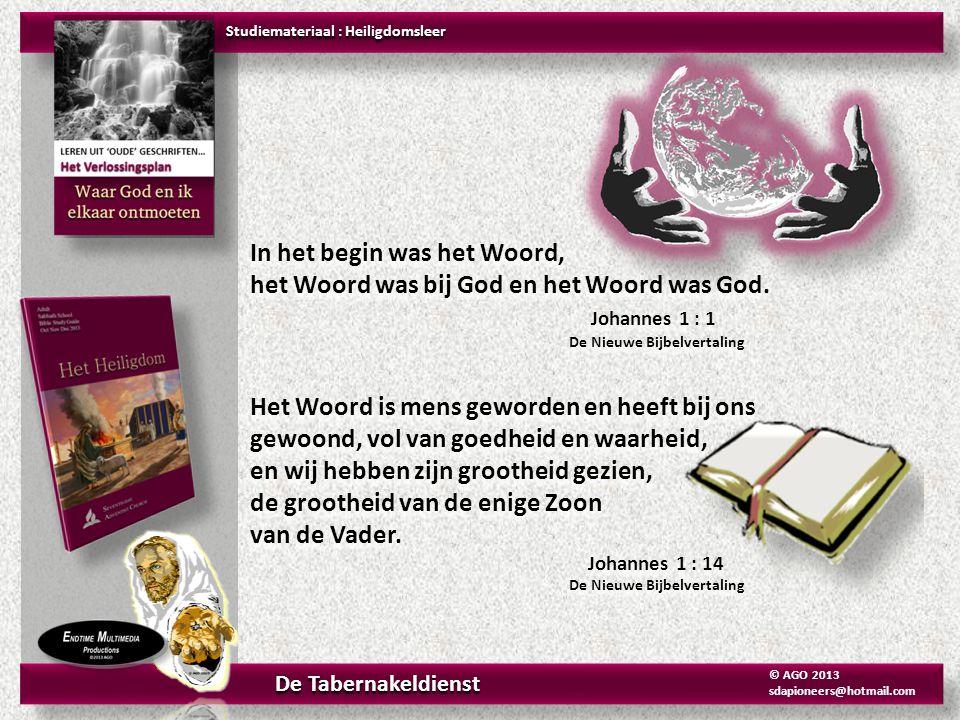 In het begin was het Woord, het Woord was bij God en het Woord was God. Johannes 1 : 1 De Nieuwe Bijbelvertaling Het Woord is mens geworden en heeft b