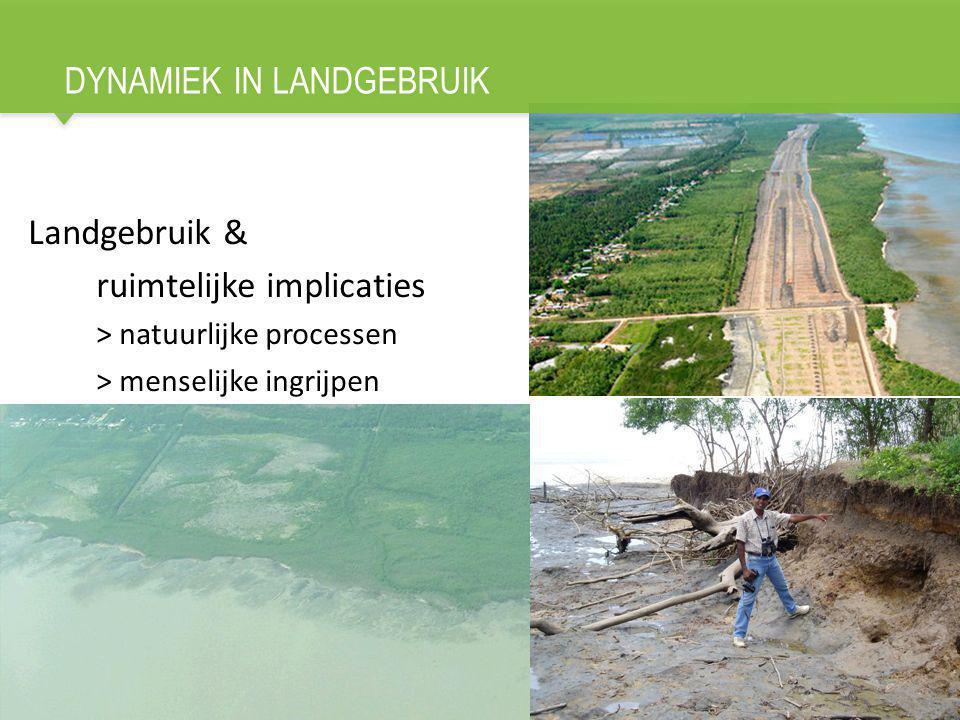 DYNAMIEK IN LANDGEBRUIK Landgebruik & ruimtelijke implicaties > natuurlijke processen > menselijke ingrijpen 2